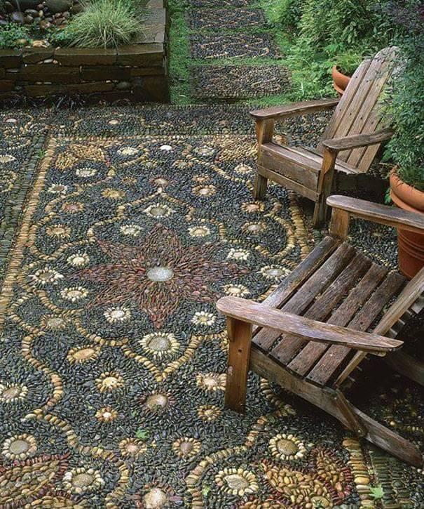 77 stone path ideas for gardening (32)