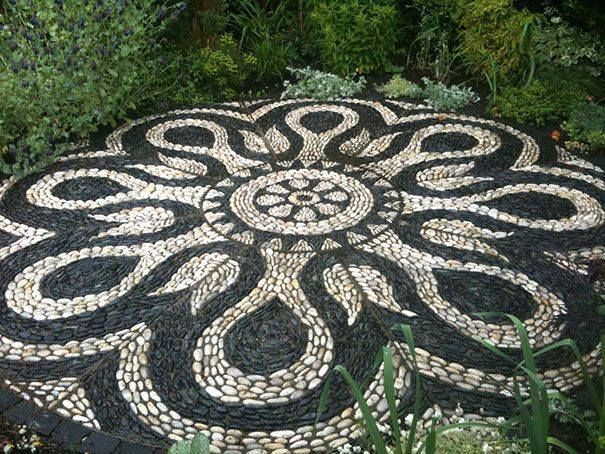 77 stone path ideas for gardening (33)