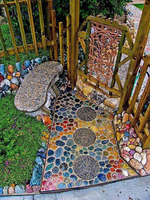 77 stone path ideas for gardening (4)