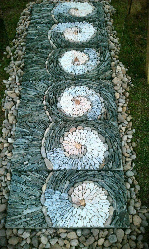 77 stone path ideas for gardening (40)