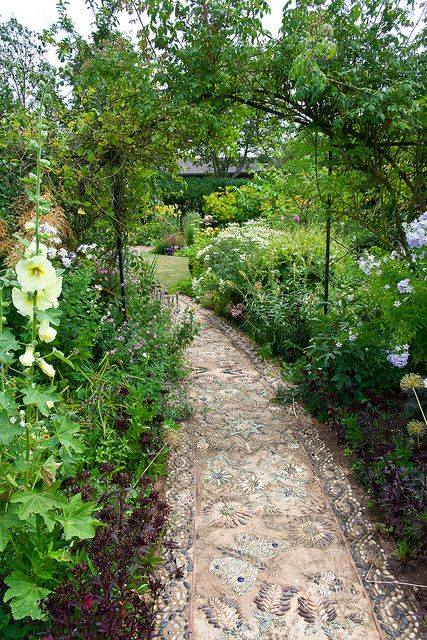 77 stone path ideas for gardening (43)