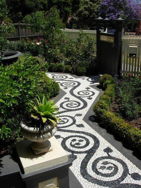 77 stone path ideas for gardening (45)