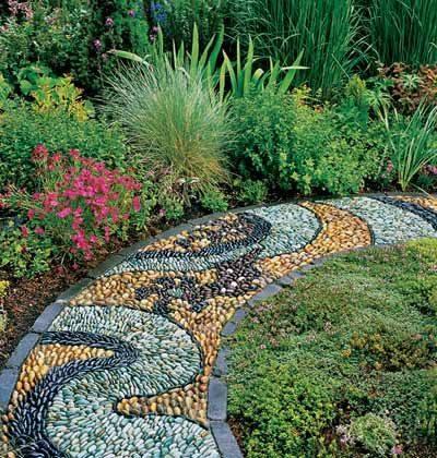 77 stone path ideas for gardening (49)