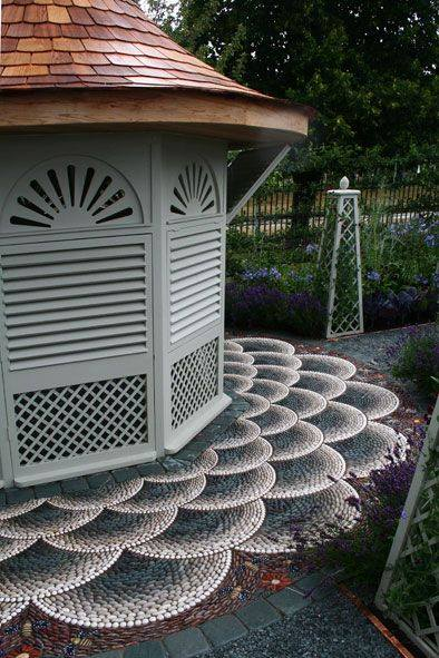 77 stone path ideas for gardening (50)