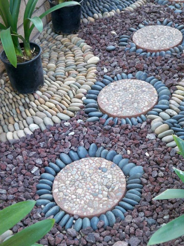 77 stone path ideas for gardening (56)
