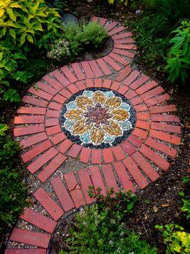 77 stone path ideas for gardening (61)