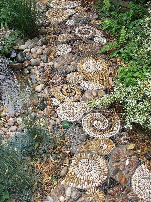 77 stone path ideas for gardening (62)