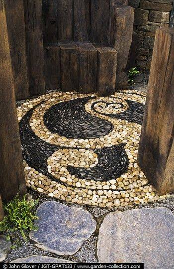 77 stone path ideas for gardening (64)