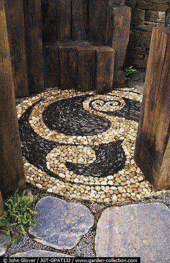 77 stone path ideas for gardening (64)