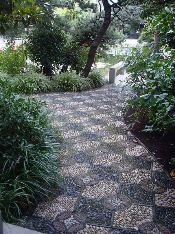 77 stone path ideas for gardening (65)