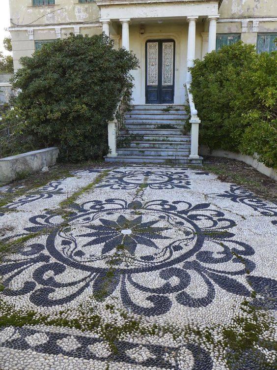 77 stone path ideas for gardening (8)
