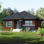 บ้านร่วมสมัยโทนสีเข้ม ออกแบบให้มีความภูมิฐาน ภายในออกแบบเรียบง่าย 2 ห้องนอน 1 ห้องน้ำ