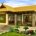 บ้านร่วมสมัยขนาดเล็กๆ หลังคาทรงมนิลา ตกแต่งด้วยหินทราย โดนใจรสนิยมของคนไทย