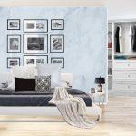 Review : แต่งห้องนอนผู้หญิง ในสไตล์สแกนดิเนเวีย โทนสีขาว สวยสะอาดตา พื้นที่แคบแต่ฟังก์ชั่นครบ
