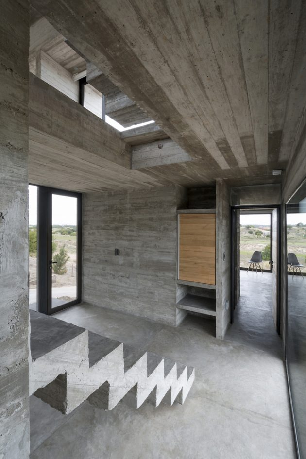 Modern House loft Design concrete glass and steel (5)