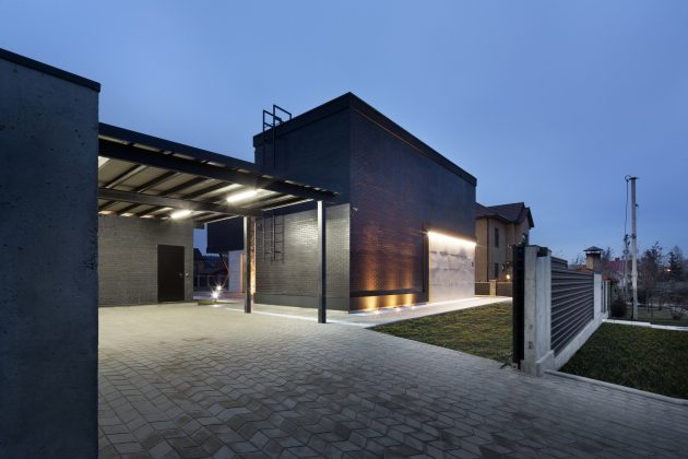 Modern house beautiful and dignified Decorated with concrete wood and steel (19)