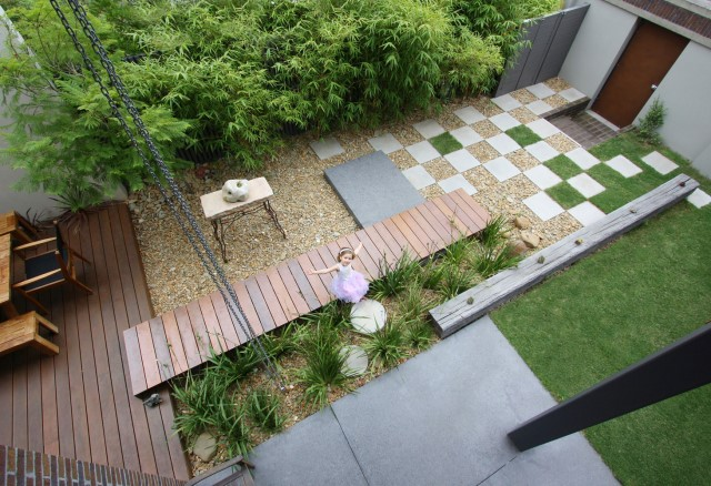 Modern house decor Wood and cement 03 (16)