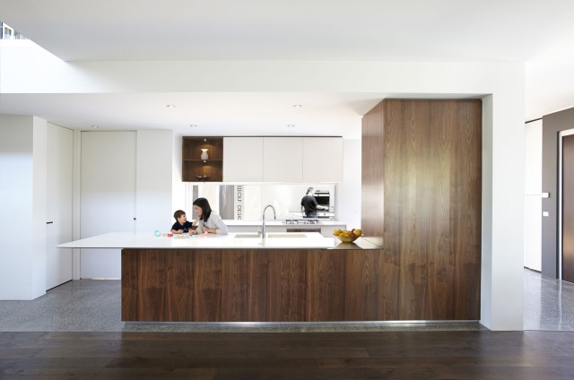 Modern house decor Wood and cement 03 (20)
