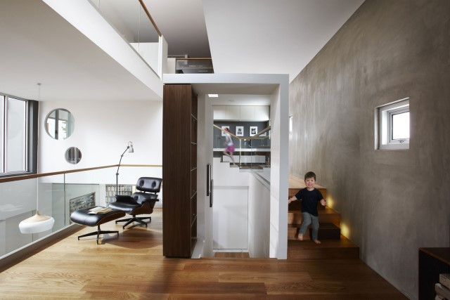 Modern house decor Wood and cement 03 (27)