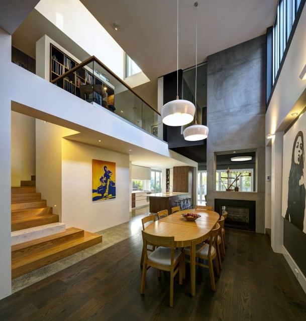 Modern house decor Wood and cement 03 (4)