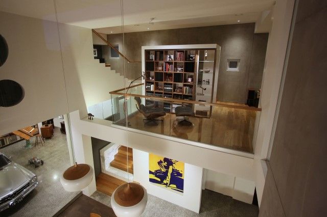 Modern house decor Wood and cement 03 (9)