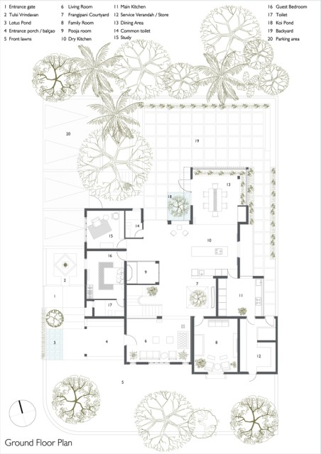 Modern large house Decorated with green space (17)