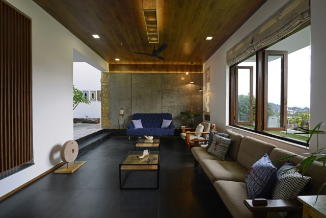 Modern large house Decorated with green space (6)