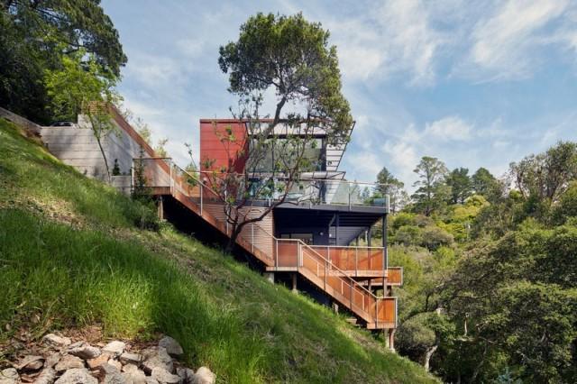 Modern villa wooden cabin style (7)