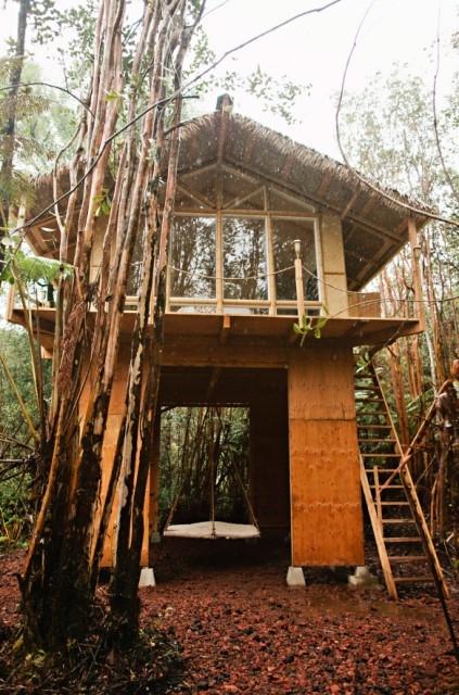 Rustic house relaxation area nature nestling (2)