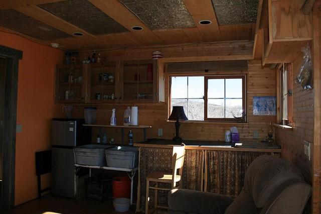 Small home Modern Cabin Design wood porch (5)
