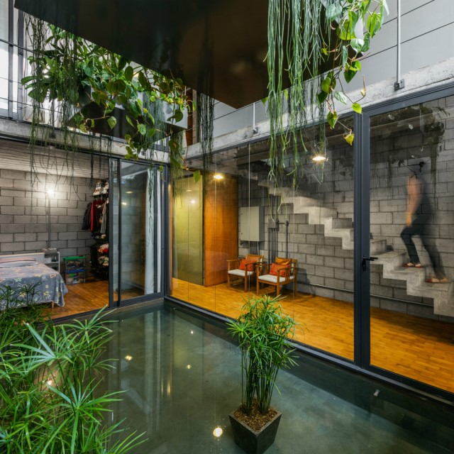 Town House Modern style cement decor (12)