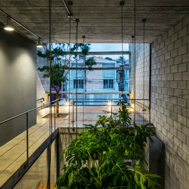 Town House Modern style cement decor (14)