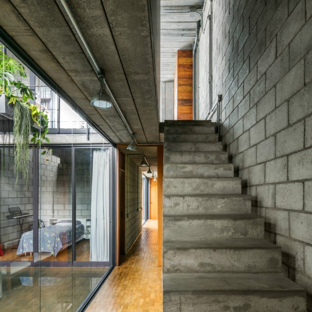 Town House Modern style cement decor (4)