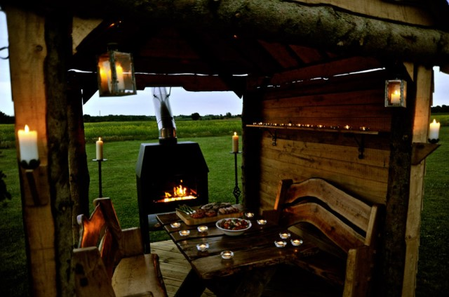 Wooden cottage House with outdoor kitchen (4)