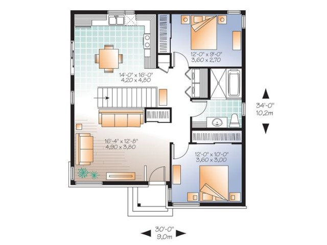 contemporary home 2 bedrooms 1 bathroom (1)