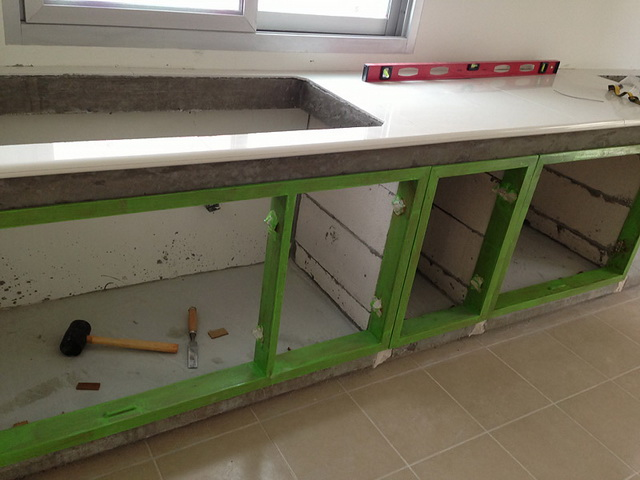 diy concrete kitchen review (10)