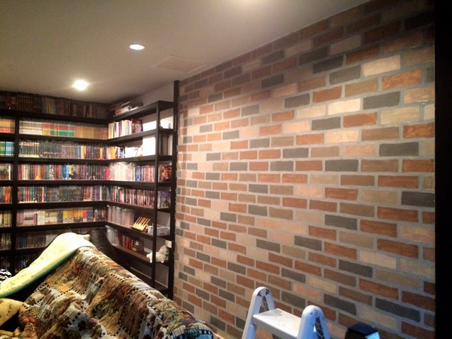 faux brick painting diy (1)