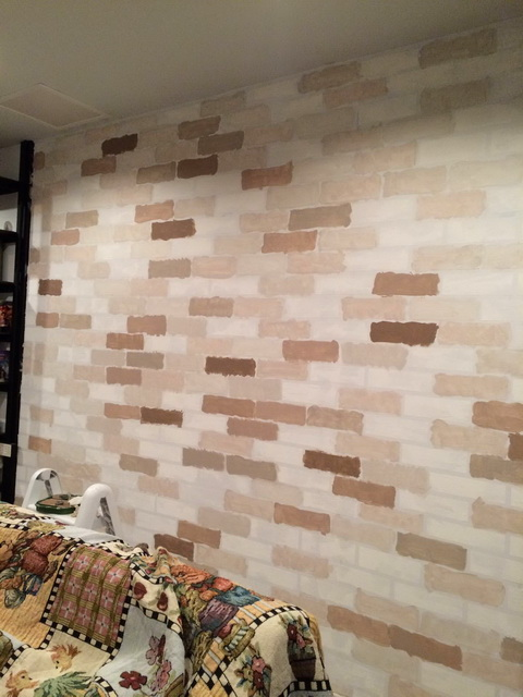 faux brick painting diy (10)