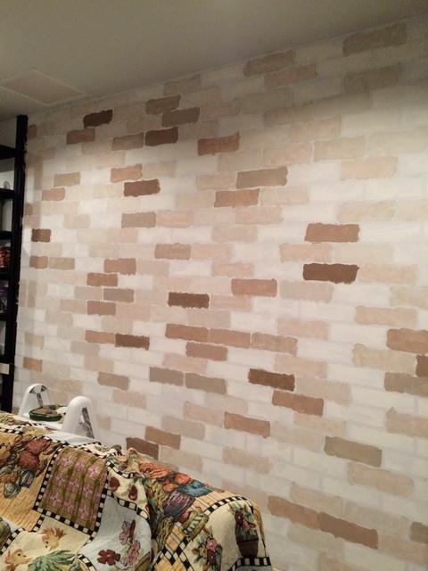 faux brick painting diy (10)