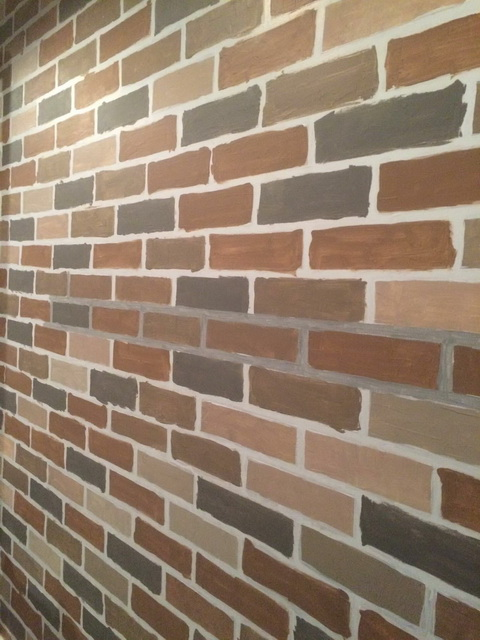 faux brick painting diy (12)