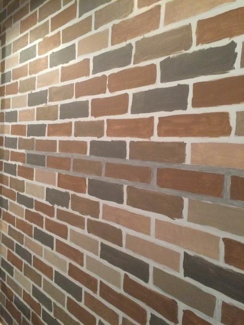 faux brick painting diy (12)