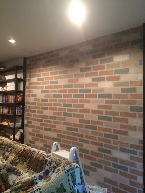 faux brick painting diy (13)