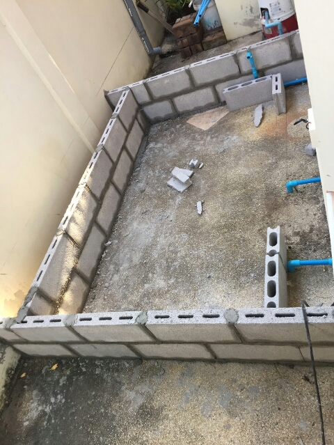 patio enlargement with small pond review (6)