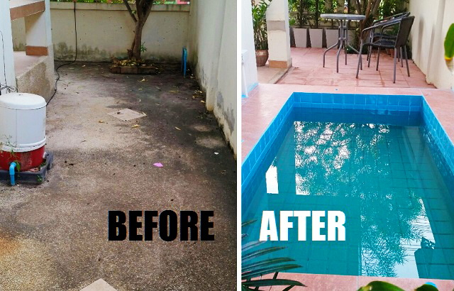 patio enlargement with small pond review COVER