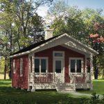 บ้านสวนสไตล์คอทเทจ โทนสีแดง ขาว ตกแต่งน่ารัก ท่ามกลางสวนป่าร่มรื่น