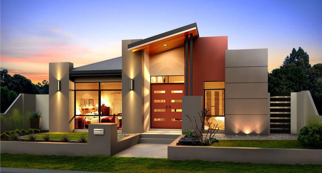 two-storey house modern style elegant shape (7)