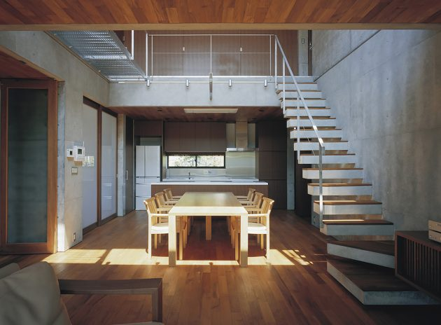two-story Modern house natural decor (3)