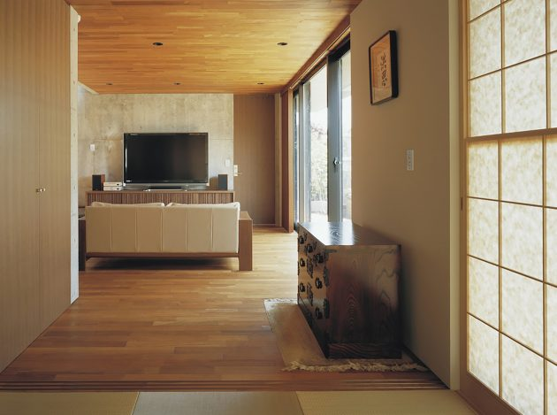 two-story Modern house natural decor (9)
