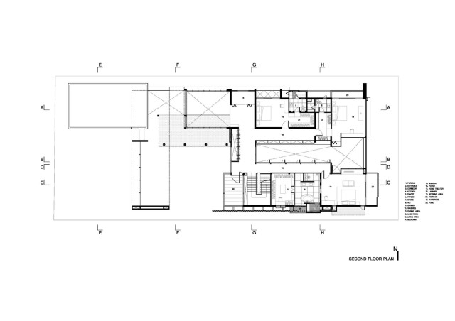 two-story Modern villa house with modern materials (16)