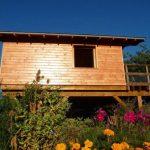 บ้านไม้สไตล์เคบิน ขนาดเล็ก 1 ห้องนอนแบบสตูดิโอ รอบรับการใช้งานแบบบ้านสวน